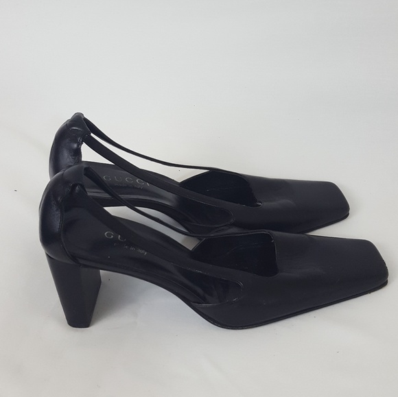 549e2e1ec75b Gucci Shoes - Gucci vintage square toe pumps with side rails
